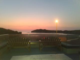 Spectacular Porth sunsets enjoyed from the deck overlooking the beach.