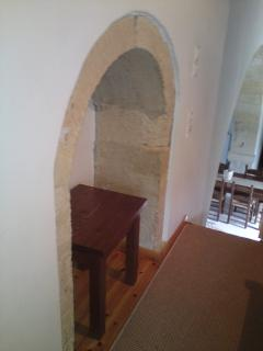 Upstairs loft reveal more of the stone arches