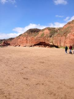 A beautiful day on Exmouth Beach