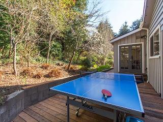 Play ping-pong on the quiet back deck.