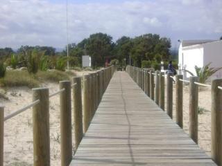 acceso a la playa, parque natural Ria de Formosa