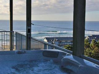 Enjoy Miles of Ocean Views from the Hot Tub, Lincoln City