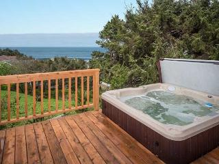Relax at the beach from the oceanview hot tub