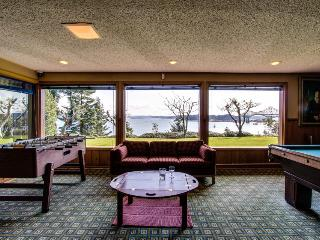 Bayfront home with a gym, sauna, game room, hot tub & more!