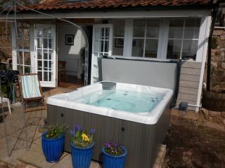 The private Hot tub is a key feature in the garden, heated to 38c and can be used all year round.