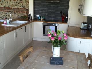 The open plan modern kitchen