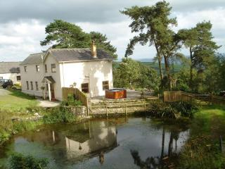 Stunning View 5 Bedroom Farmhouse Carmarthen - West Wales - Hot Tub - Logburner
