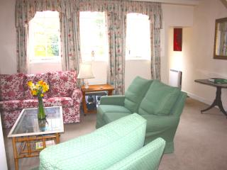 View of main room looking south to garden.