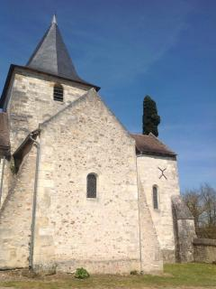 Views of the church Saint Remy sur Creuse