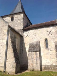 Views of the church Saint Remy sur Crease