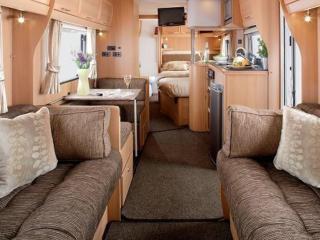 6 berth touring caravan, Saundersfoot
