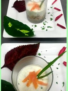 Avocado mousse & smoked salmon..