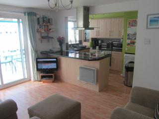 Open plan lounge & kitchen