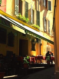 the romantic streets of old Nice are lined with restaurants