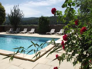 Espace piscine avec bains de soleil