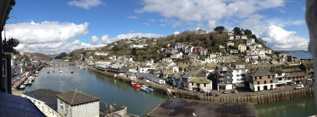 Panoramic view of the Harbour and East Looe from the Lounge