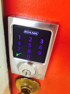 Keyless Entry integrated with alarm and CO2/smoke detector providing security and piece of mind!