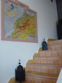 Escaliers menant au R+1