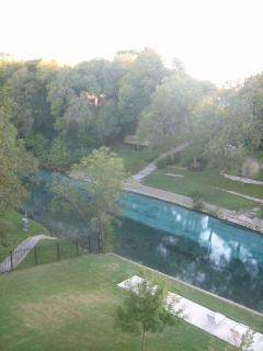 This is the view from our patio, it overlooks the Comal River