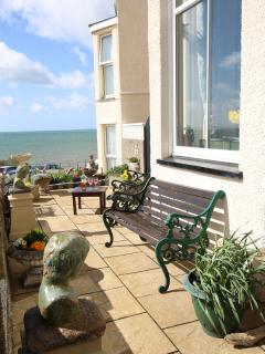 Welcome to Ardro 5 star luxury with a view of the sea. Photo of front terrace