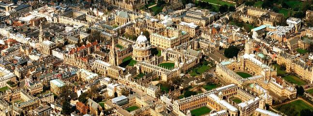 Aerial View of central Oxford