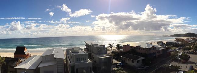 Panoramic sunrise outlook.