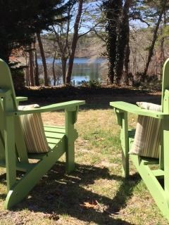 Adirondack chairs with a view