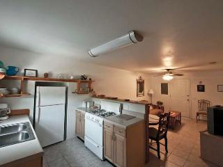 Full kitchen, fridge, oven, stove, freezer, dishes, etc