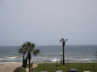Views of Beach, Gulf Waters and Waterfall Pool, Galveston