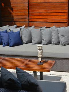 The Upstairs Terrace at Villa Windu Sari by Windu Villas