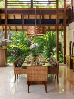 Outdoor living and dining at Villa Windu Sari by Windu Villas