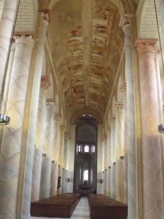 12th cent Abbaye de St Savin:Magnificent frescos cover the church ceiling. UNESCO Heritage site.