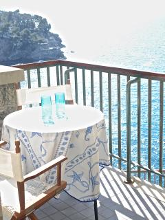 private terrace with seaview