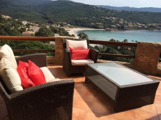 Vacances Corse Vue plage sable fin 6 à 8 personnes, Pietrosella