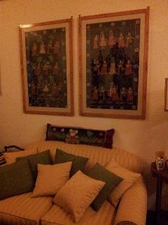Il soggiorno, confortevole ed elegante