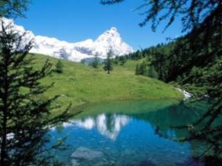 The Matterhorn from the Blue Lake 'Lago Blu'