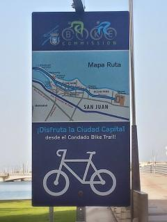 Bicycle lane , rent a bike and go around Condado