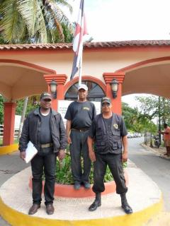 Main entrance with 24/7 security guards.