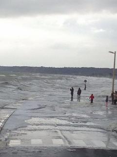 Grande marée de mars 2015 (route submergée)