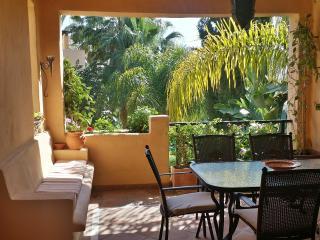 South-facing terrace in hacienda-style