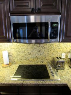 Kitchen Microwave and Stovetop