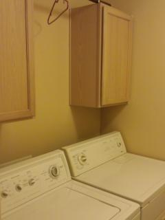 Laundry room.  Large capacity washer and dryer.