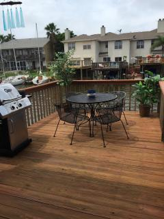 Deck with Infared Gas Grill.