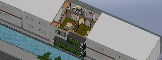 3D layout of the apartment.