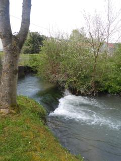 The river in the village