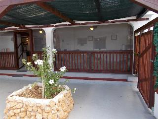 Entrance to the 'Loveshack' terrace