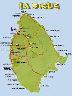 La Digue Map