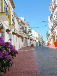 Romantic cobble stone streets of Estepona