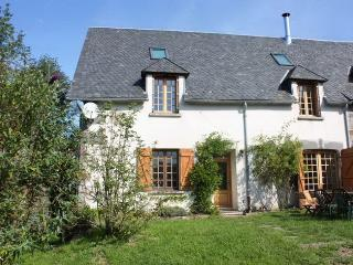 Traditional auvergnian house in peaceful village, La Bourboule