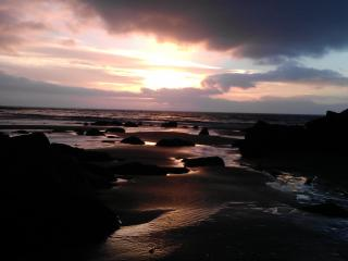 Sunset from the beach at Ardwell Bay, three miles away on the west coast of the Rhins Peninsula